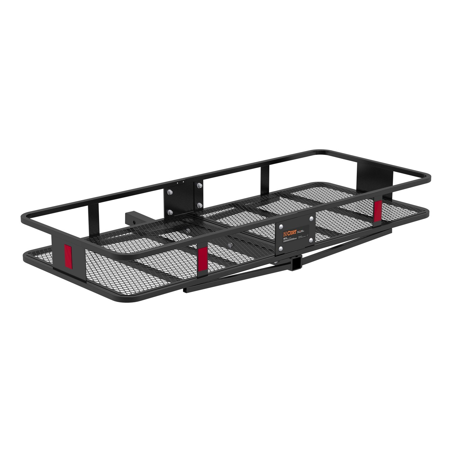 CURT 18152 Basket Trailer Hitch Cargo Carrier, 500 lbs. Capacity, 60-Inch x 24-Inch x 6-Inch, Fits 2-Inch Receiver