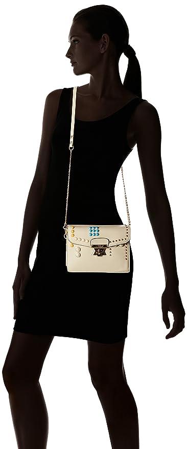 Amazon.com: Nikky Womens Colorful Studded Design Beige Crossbody Cross Body Bag, One Size