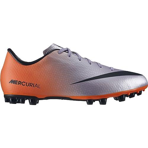 Nike Jr Mercurial Victory IV AG - Zapatillas de fútbol para unisex, color naranja/gris/negro: Amazon.es: Zapatos y complementos