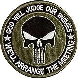 Redondo Calavera de el Castigador Military Tactical moral parche cinta ejército insignia–verde