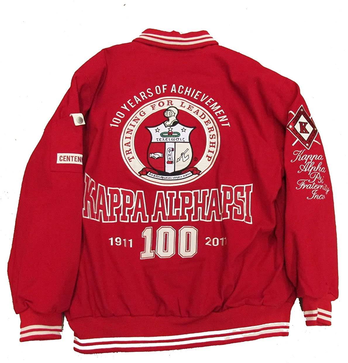 43ad774a77e Amazon.com  Kappa Alpha Psi Varsity Trimmed Fraternity Mens Big   Tall  Jacket  Clothing