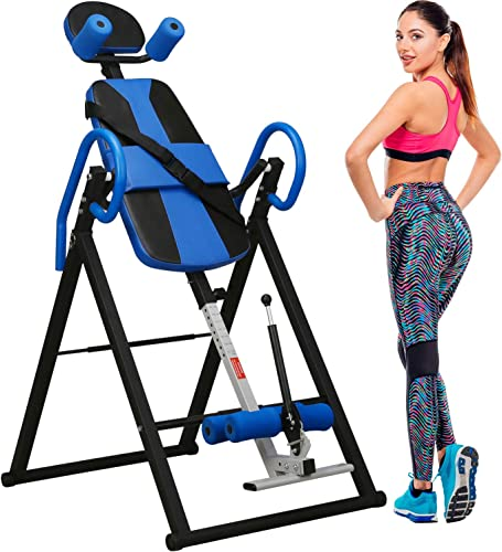 Merax Body Comfort Inversion Table with Ultra-Thick Back Support Heavy Duty Up to 264 lbs