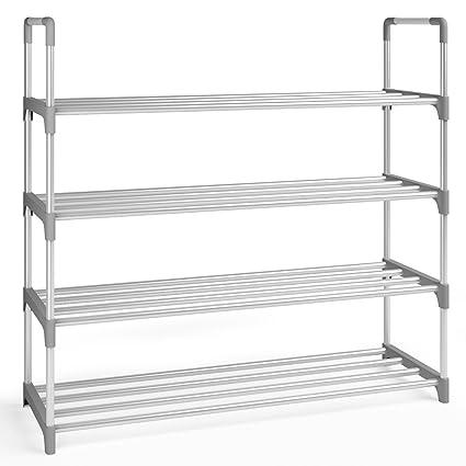 Home Intuition 4 Tier 2  Pair Shoe Rack Tower Shelf Storage Organizer  Cabinet,