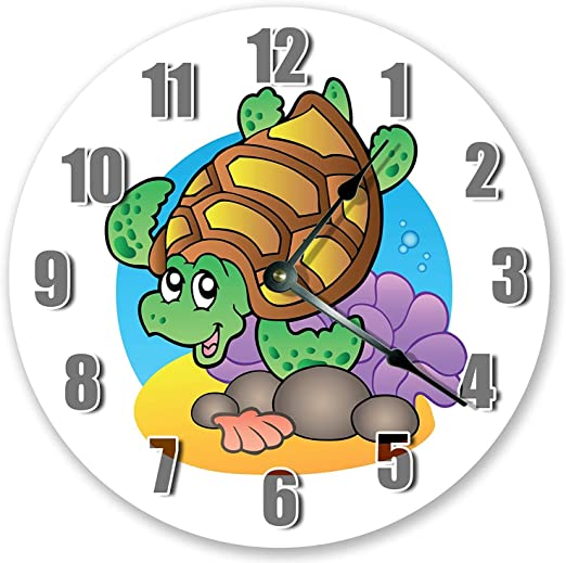Amazon Com Pottelove 12 Vintage Happy Sea Turtle Cartoon Design