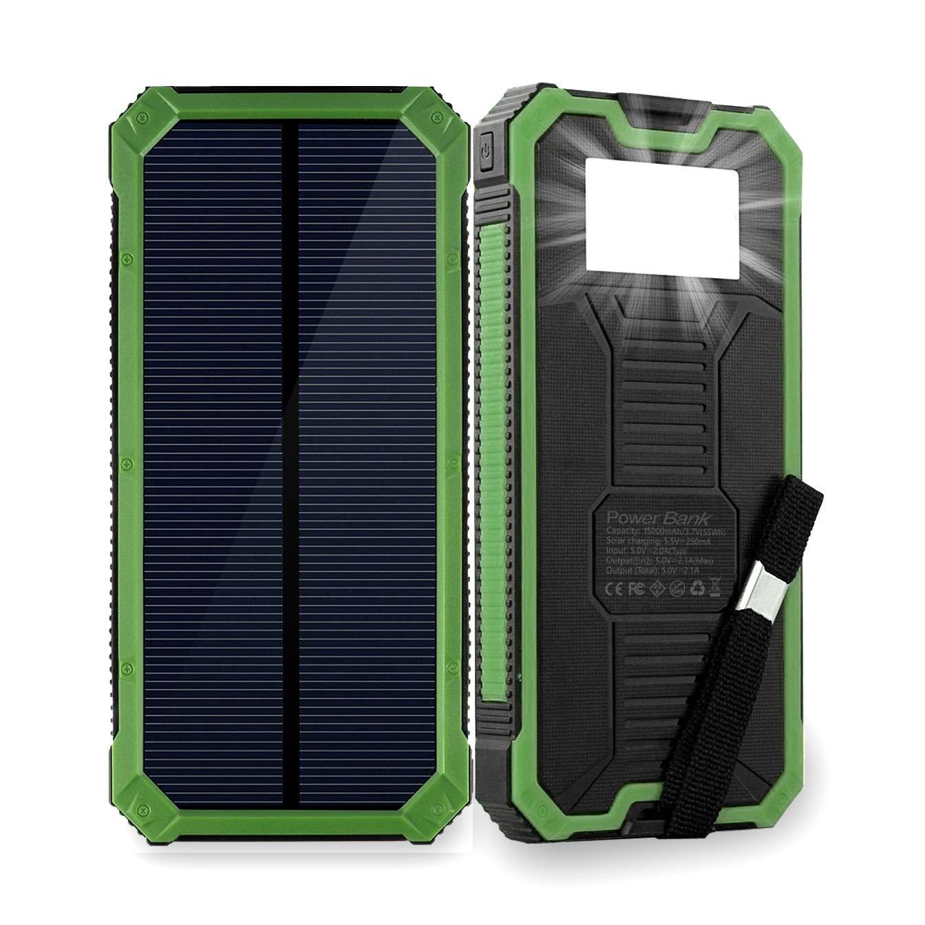 Cargador Solar Portatil Con Bateria De 15000mah Friengood Ve