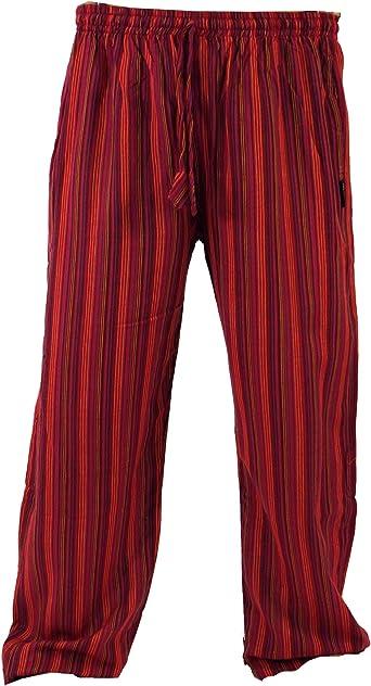 GURU-SHOP, Pantalones de Yoga, Pantalones Goa, Rojo, Algodón, Tamaño:M (48), Pantalones de Hombre: Amazon.es: Ropa y accesorios