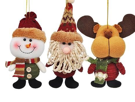 e01613568b0 Feliz Navidad Papá Noel Muñeco Colgantes Decoración de árbol de Navidad  para Colgar Adornos Manualidades Decoración