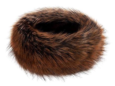 22e655d0338 Futrzane Winter Faux Fur Headband for Women and Girls (Copper)  Amazon.ca   Luggage   Bags