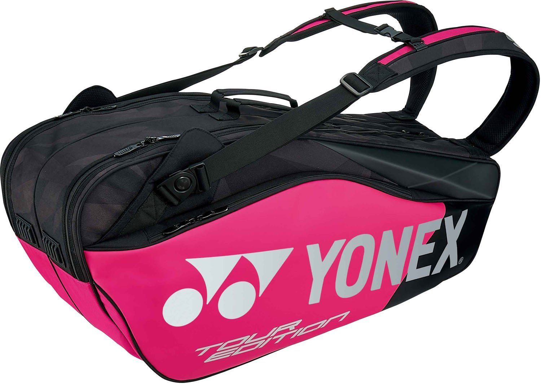 ヨネックス(YONEX) テニス バッグ ラケットバッグ6 (リュック付きテニスラケット6本用) BAG1802R B0775S55LW ブラック×ピンク(181) ブラック×ピンク(181)