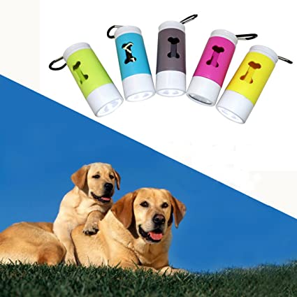 MASUNN Dispensador de linterna LED para perro de PET caca de ...