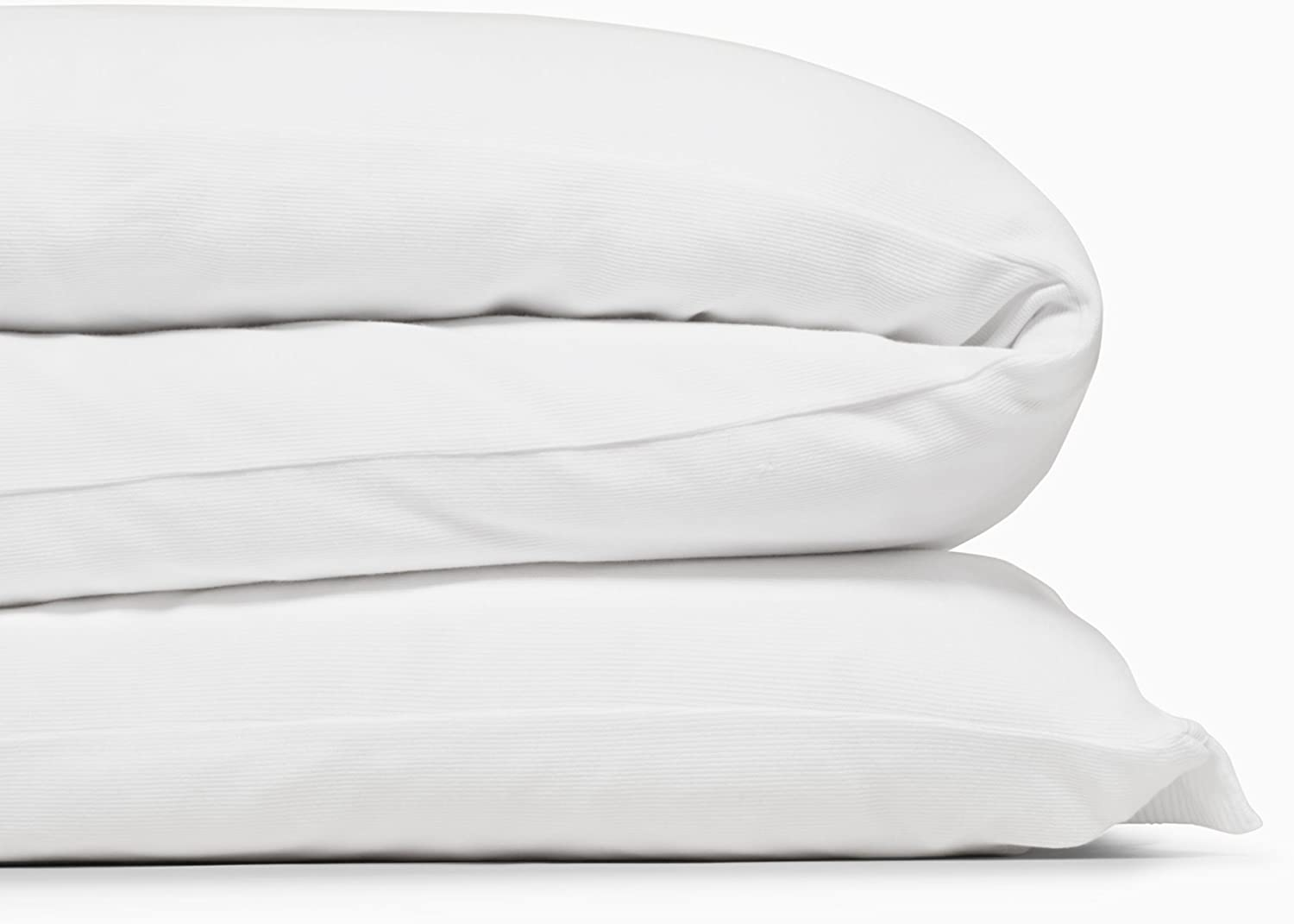 Calvin Klein Home Modern Cotton Julian Duvet Cover, Twin, White