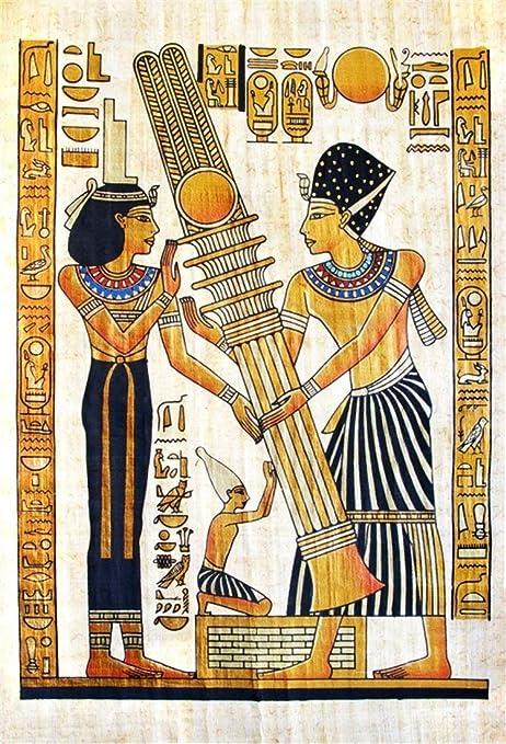 Buenn 5x7ft Fine Papyrus égyptien Toile De Fond Hiéroglyphe