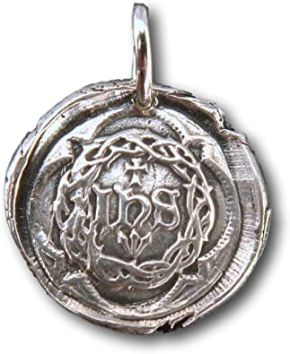 Rosa Mystica Sterling Silver Radiant Cross Wax Seal Pendant