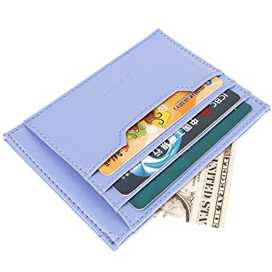 36f45a2691be RFID Slim Card Holder Thin Card Case Cool Wallet for Men and Women at  Amazon Men's Clothing store: