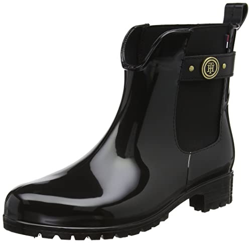2e87acb939c Tommy Hilfiger Oxley 13r Patent Womens Chelsea Boots Black - 41 EU ...