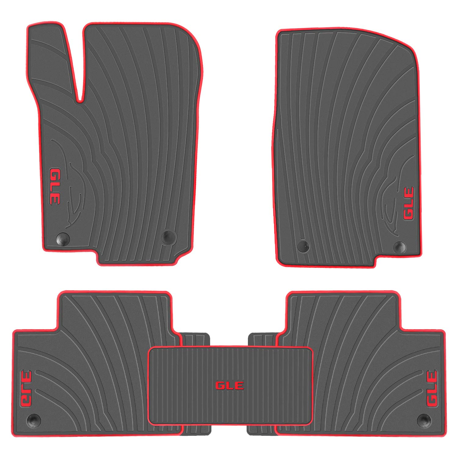 San Auto Car Floor Mat for Mercedes-Benz GLE 2016-2017-2018-2019 Custom Fit Black//Red,Rubber Auto Floor Mats All Weather Heavy Duty /& Odorless