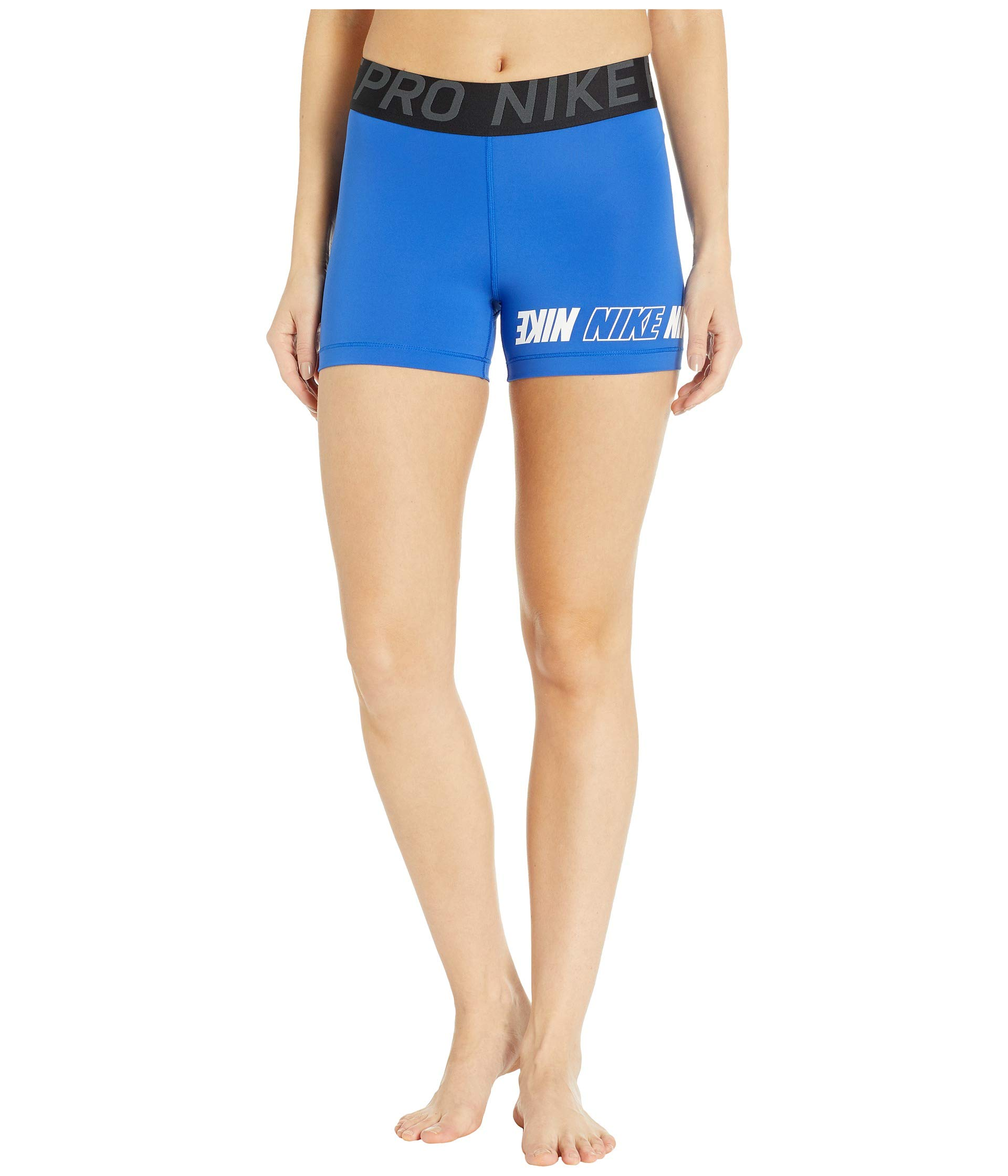 Nike Women's Pro Sport Distort 3'' Short (Game Royal/Black/Anthracite/White, X-Small 3)