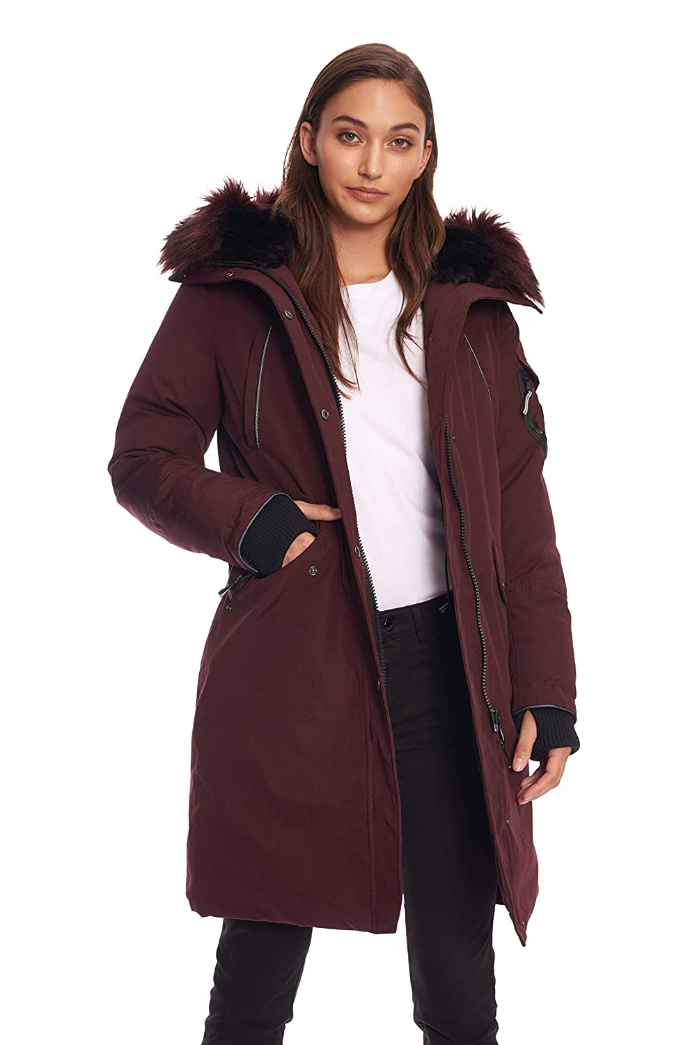 Image of Alpine North Womens Vegan Down Long Parka Winter Jacket Down & Down Alternative