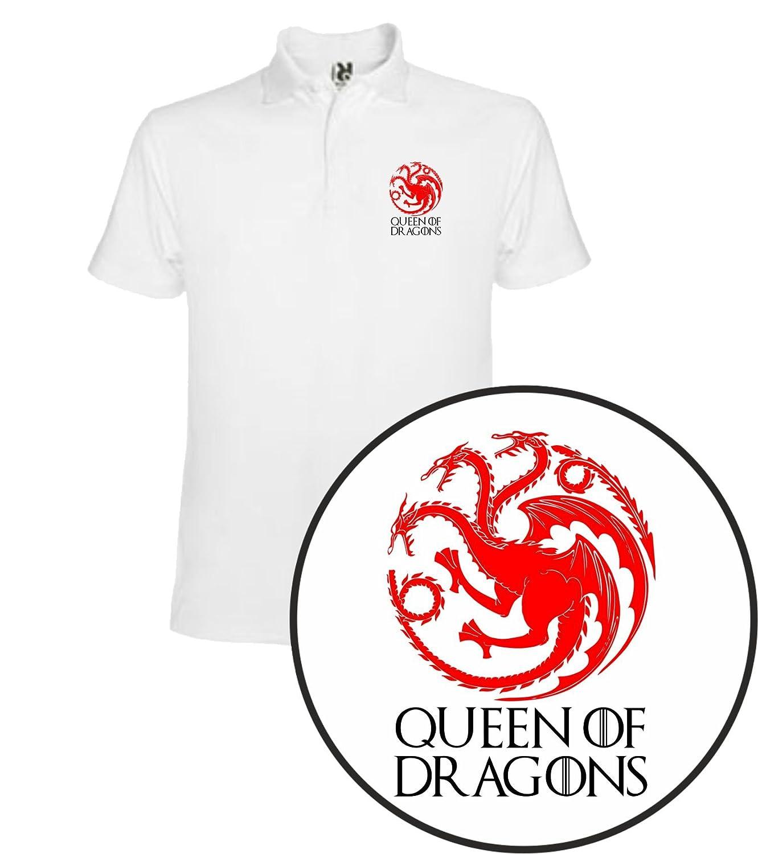 The Fan Tee Polo de Mujer Juego de Tronos Tyrion Daenerys Dragon ...