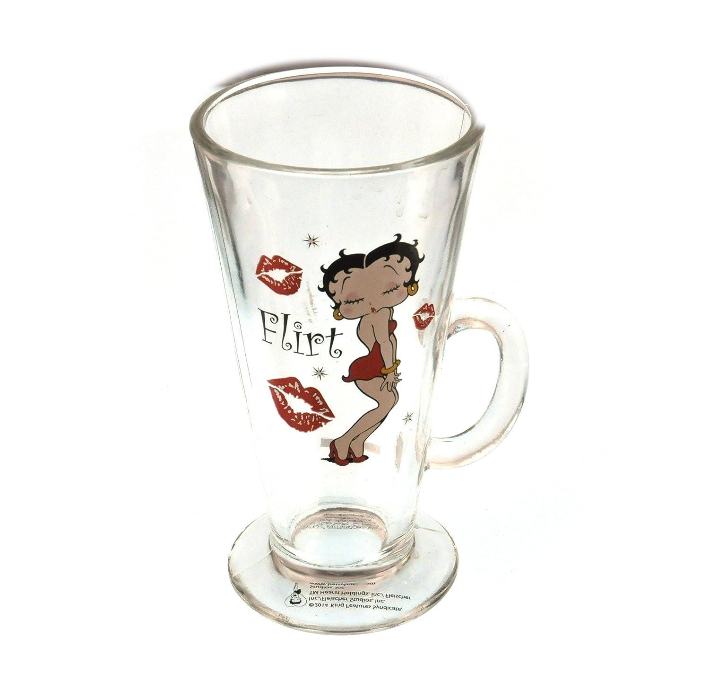 Betty Boop Latte Glass Tall Mug - Flirt Instant Gifts International