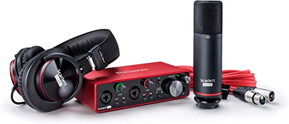 Focusrite Scarlett 2i2 Studio 3rd Gen USB Audio Interface and Recording Bundle with Pro Tools  First at Kapruka Online for specialGifts