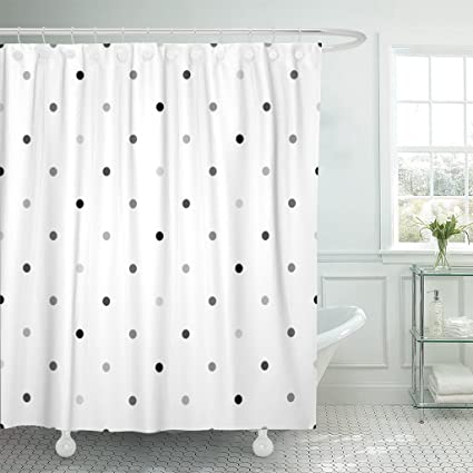 Image Unavailable Not Available For Color TOMPOP Shower Curtain Cute Gray Polka Dot