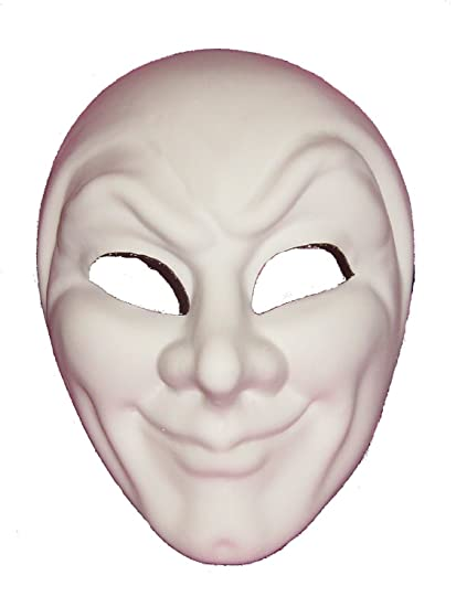 Venecia máscaras venecianas de compra en blanco blanco Joker Grezzo veneciano mascarada máscara para la decoración