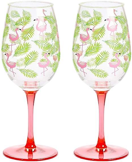 Amazon.com: C.R. Gibson Tropical rojo Flamingo y hojas de ...