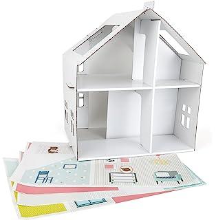 Casa Reciclado 216 De Cartón K esKrooom Amazon Muñecas cTJFK13l