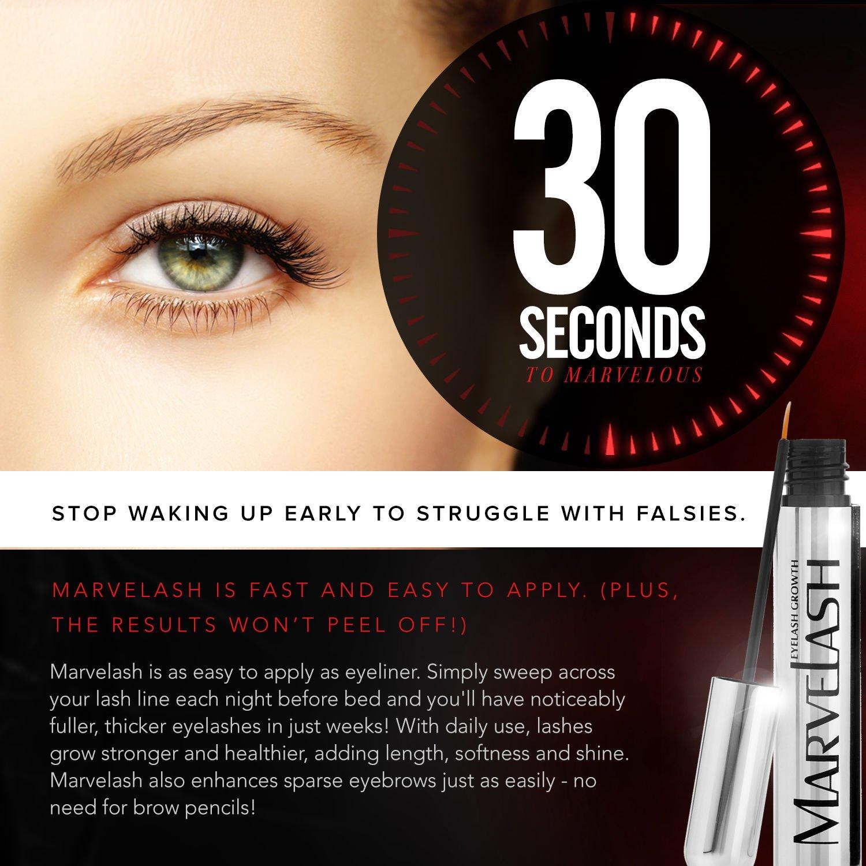 Amazon.com: Best Eyelash Growth Serum: MARVELASH | Grows Eyelashes ...