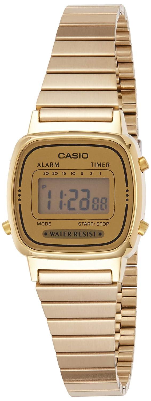 Casio Womens LA670WGA-9 Gold Stainless-Steel Quartz Watch with Digital Dial