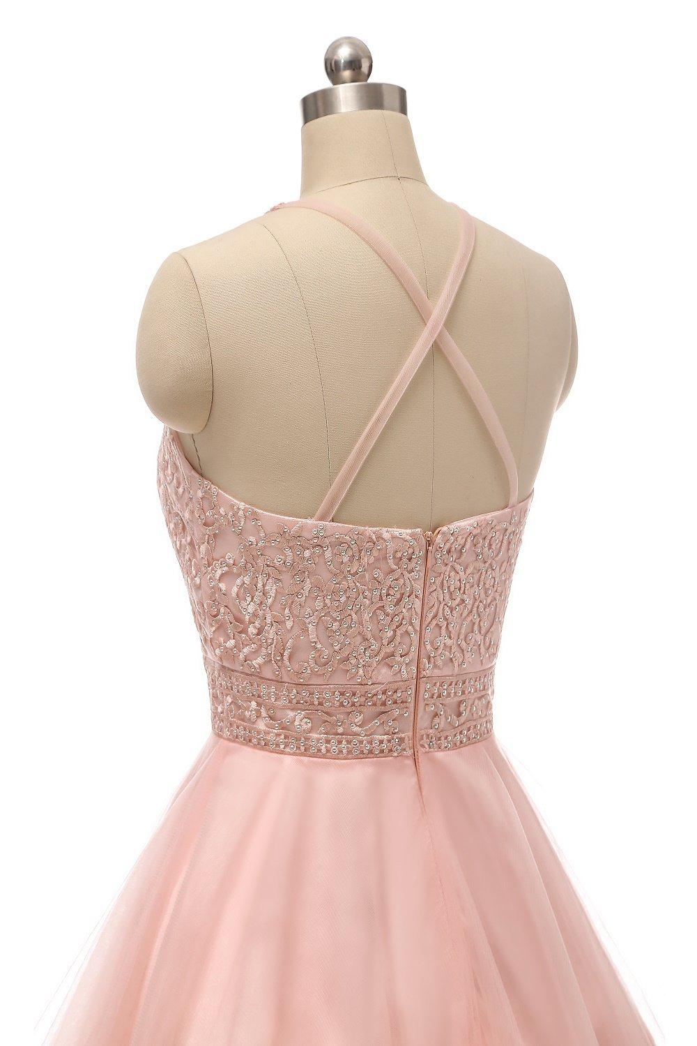 wding tul corto vestidos de Pink-0025 baile para juniors apliques de ...