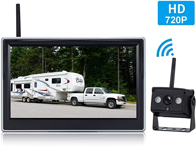 LeeKooLuu Digital Wireless Backup Camera System for Car//RV//Truck//Van//Trailer//Pickup with 5Monitor Rear//Side//Front View Camera Continuous//Reverse Night Vision IP69 Waterproof Guide Lines On//Off