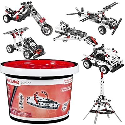 Meccano-Erector Junior 150 Piece Bucket: Toys & Games