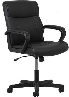 Essentials Leather Executive Office/Computer Chair   Ergonomic Swivel Chair,  Black (ESS