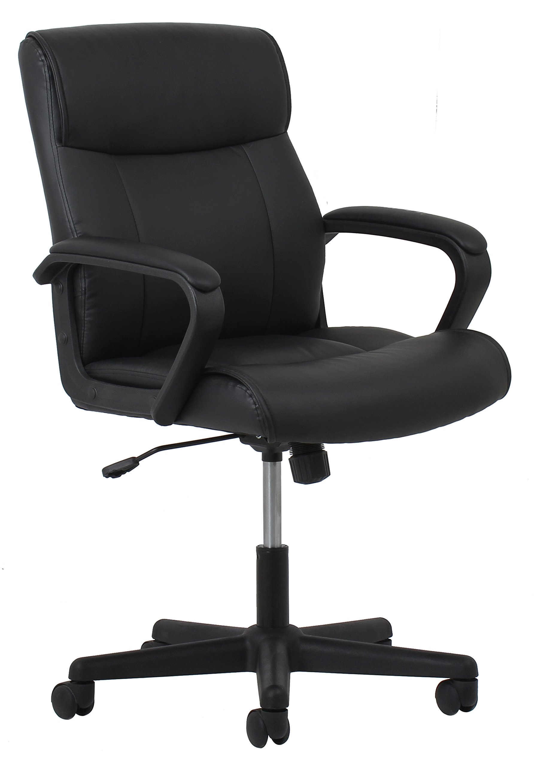 OFM Essentials Leather Executive Office/Computer Chair - Ergonomic Swivel Chair, Black (ESS-6010)