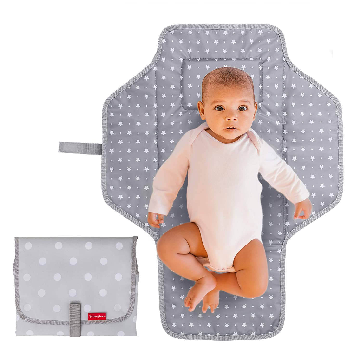 1# Houndstooth Baby Portable Changing Pad Diaper Bag Lightweight Travel Mat Station Multifunctional Cotton Waterproof Kit