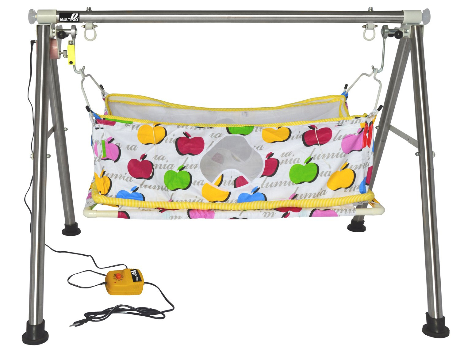 buy multipro automatic electric ghodiyu cradle swing   foldable portable collapsible indian style traditional baby palna ezee cradle online at low prices     buy multipro automatic electric ghodiyu cradle swing   foldable      rh   amazon in