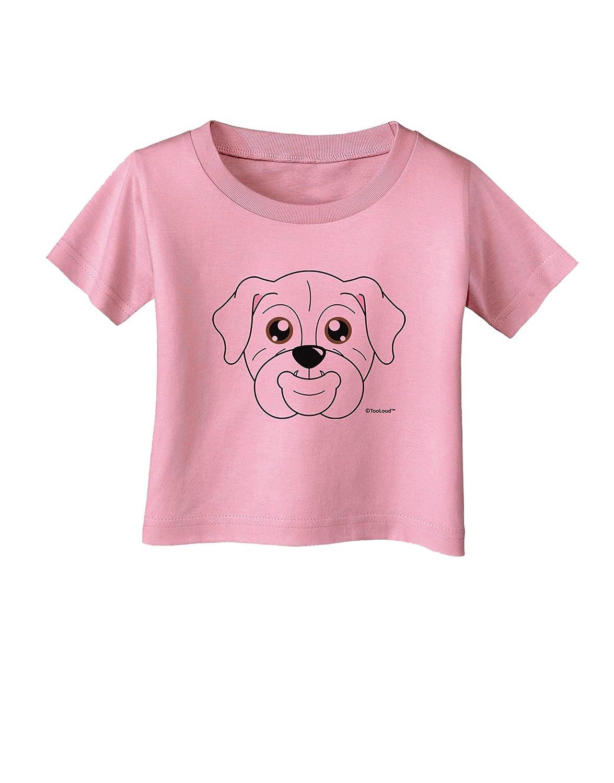 White Infant T-Shirt TOOLOUD Cute Bulldog