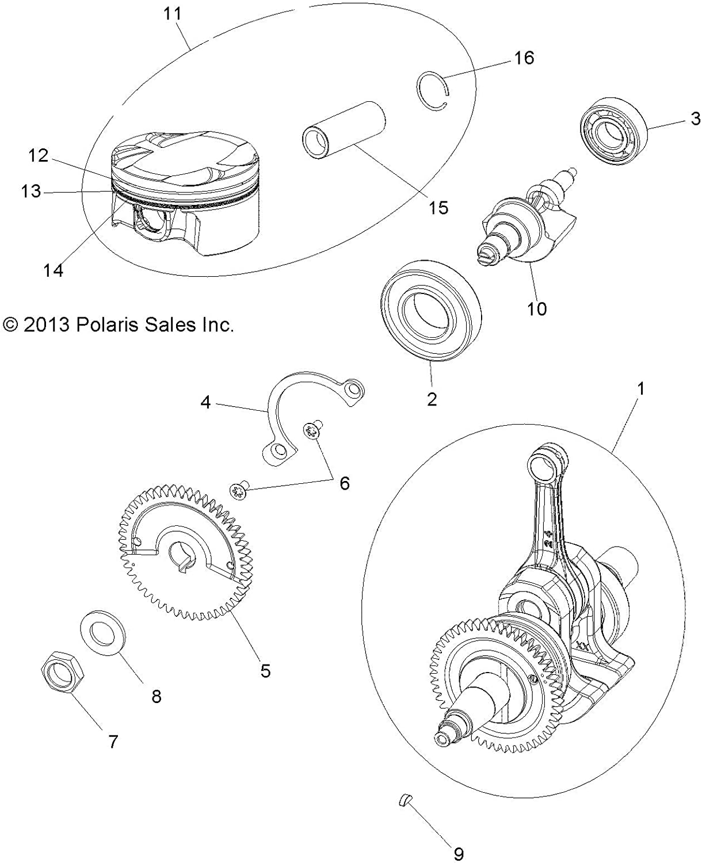 Polaris Piston Assembly Qty 1 Genuine OEM Part 3022533