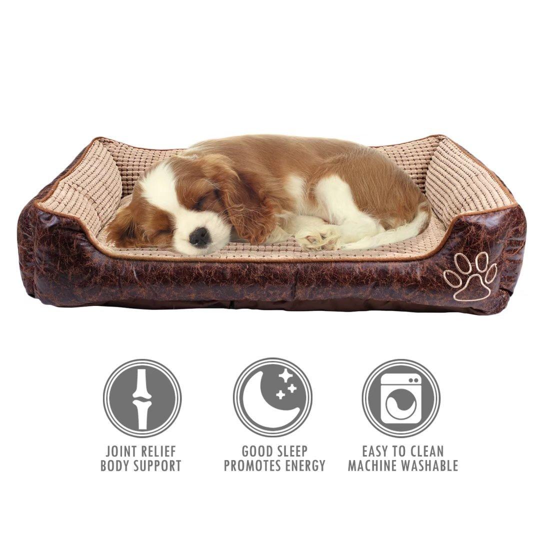 Brown XXLargeuBeste Dog Bed Detachable Pet Cushion Mat Crate Mattress Reversible Brown XXLarge