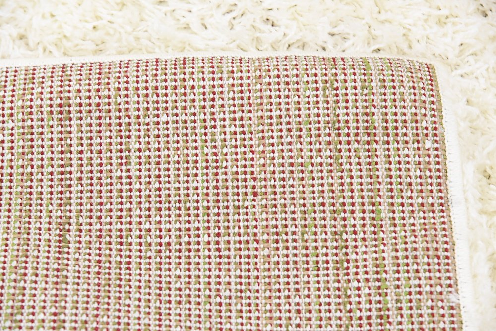Unique Loom Luxe Trellis Shag Collection Geometric Moroccan Light Green Home Décor Area Rug (4 x 6)