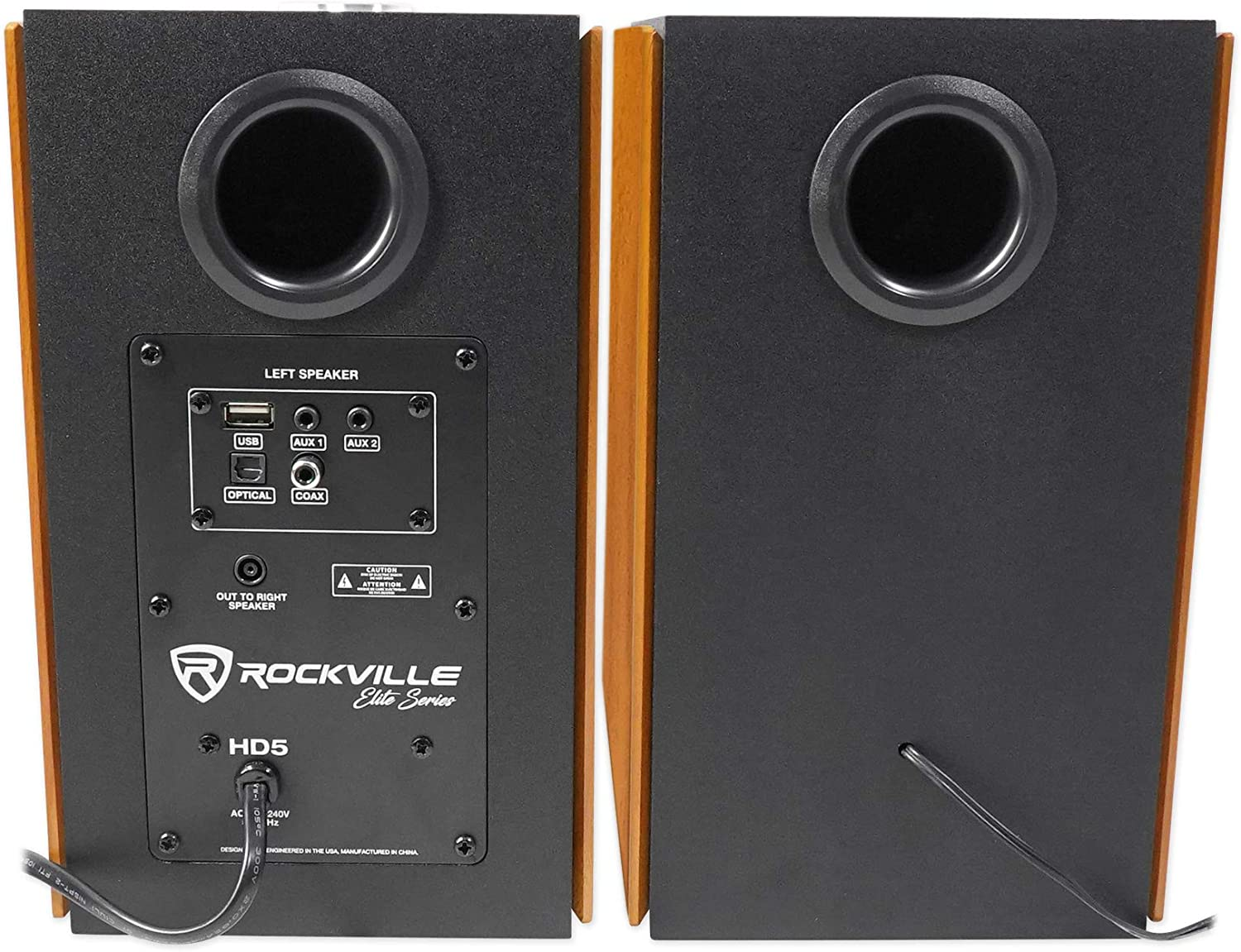 Rockville HD5 5 Powered Bluetooth Bookshelf Home Theater Speakers+Stands 2