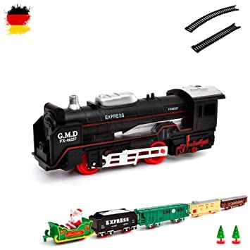 HSP Himoto eléctrica Ferrocarril Navidad Santa Claus Kit de iniciación, Tren, Locomotora de Vapor