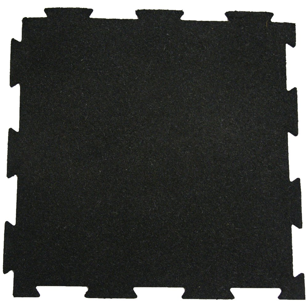 Rubber-Cal ''Puzzle-Lock'' Interlocking Basement Flooring - 3/8x20x20inch, 25Pack, 68 Sqr/Ft - Black Mats by Rubber-Cal (Image #2)