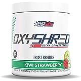 EHPlabs OxyShred Thermogenic Fat Burner Boost Metabolism, Low Stimulant, Destroy Stubborn Fat Cells (Kiwi Strawberry)