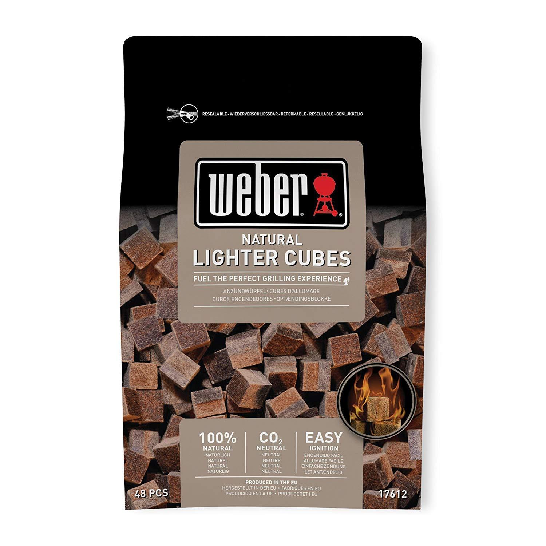 ウェーバー(Weber) バーベキュー コンロ BBQ グリル 着火剤 100%天然素材点火キューブ 48個入
