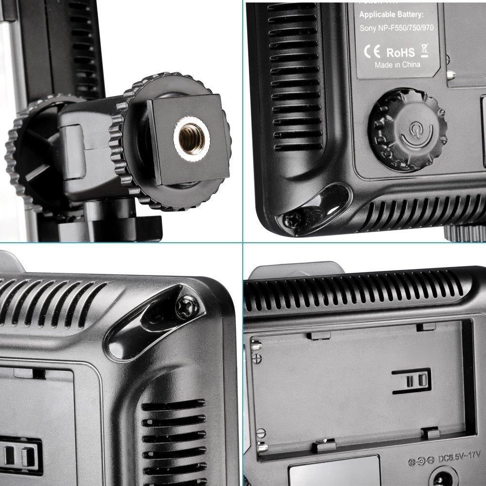 Foco Antorcha led Luz para Estudio Fotogr/áfico Tolifo PT-176S Luz LED V/ídeo Fotograf/ía Compatible para Canon Nikon Sony DSLR C/ámara Videoc/ámara con bater/ía F550