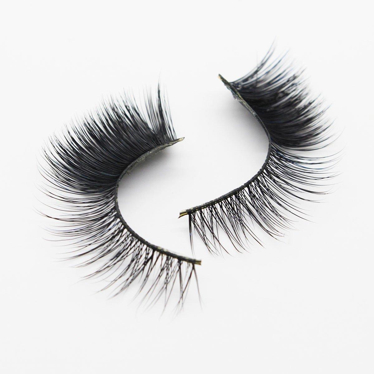 7d4e553584c Amazon.com : Ptcharming Handmade Voluminous 3D Mink False Eyelashes-Thick  Huge Dramatic Looking, Reusable with Sturdy Flexible Band, Cruelty Free  PT-MYD08 : ...