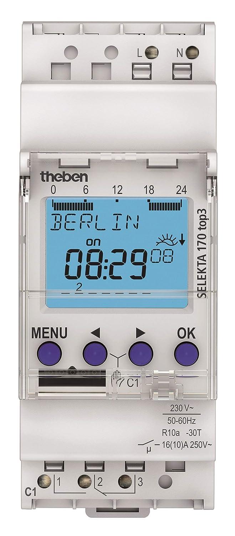 1700130 Horloge /à programme astronomique 1 canal Theben SELEKTA 170 top3